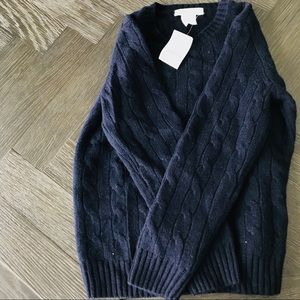 Crewcuts 100% cashmere cable knit boys sweater